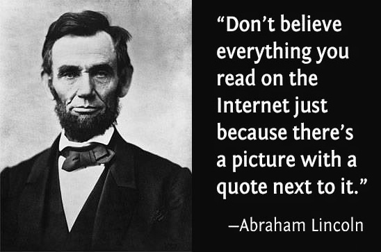 Advice from Abe Lincoln